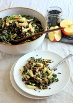 {Vegan} Wild Rice Salad with Lentils, Apple, & Kale