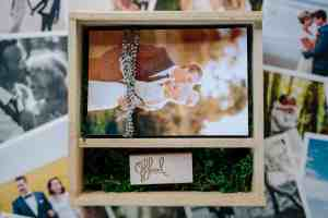 Wooden USB square box for wedding photographers