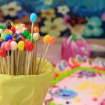 39464839 – group of colorful candy for a birthday party