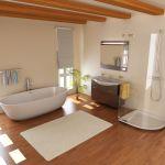 6836889 – modern bathroom with bathtub.3d render
