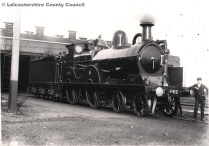 Locomotive #852 at Woodford Shed circa 1900.