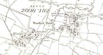Map of Woodford before the railway