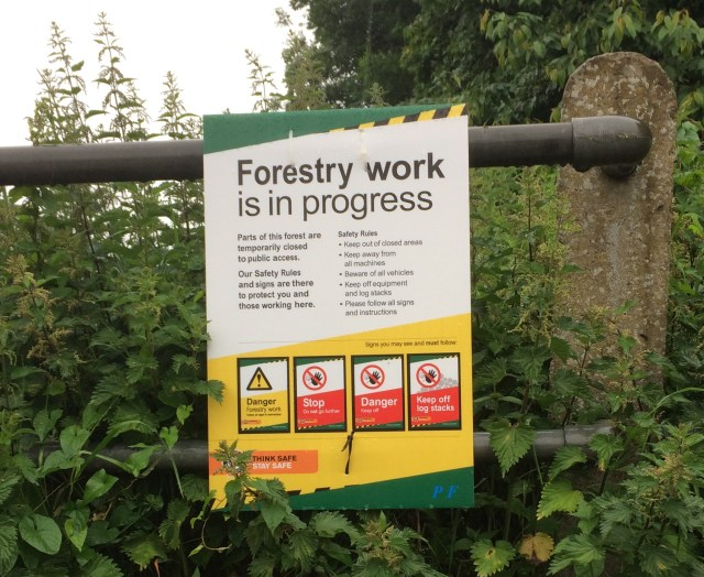 Forestry Work Warning Sign