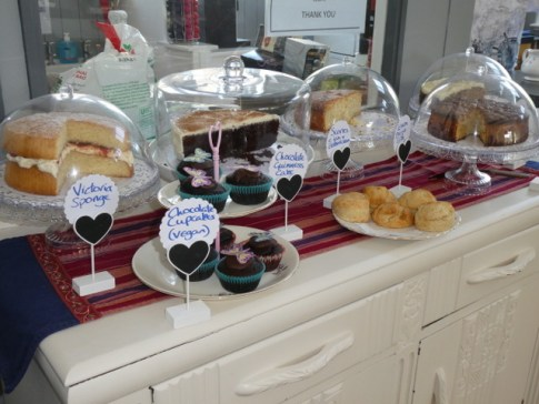 cakes at the Old School Cafe