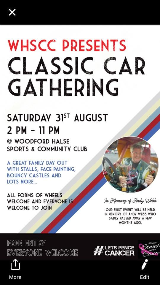 Classic Car Gathering Poster