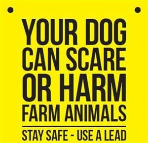 Dogs & Livestock Sign