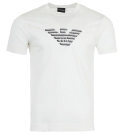 Emporio Armani Embroidered Eagle T-Shirt - White