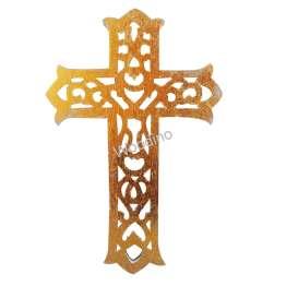 Woodino Jesus Christ Wooden Golden Cross