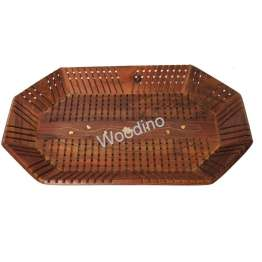 Woodino Stick Design Wooden Tray 15x10 inch