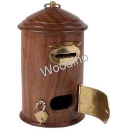 Woodino Handicraft Post Office Shaped Money Bank