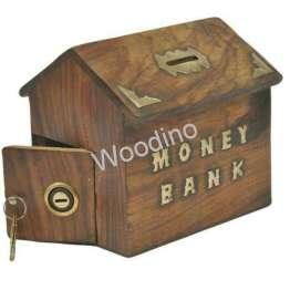 Woodino Hut Shaped Plane Money Bank