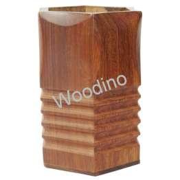 Woodino Bottom Cutter Sheesham Pen Jar