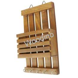 Woodino Wooden Wall Latter Rack Strip Plain