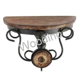 Woodino Wooden & Wrought Iron Wall Bracket