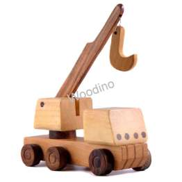 Woodino Wooden Crane Hand-pulled Toys
