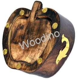 Woodino Antique Mango Wood Apple Coaster