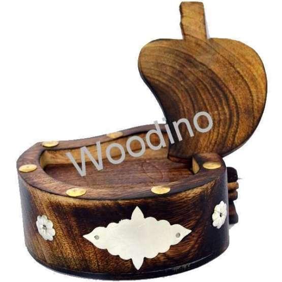 Woodino Mango Wood Antique Coaster Set