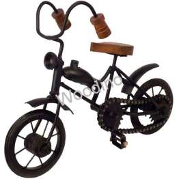 Woodino Wrought Iron & Wood Vicky Cycle 10x7 Inch