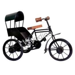 Woodino Wrought Iron & Wooden Roof Rickshaw