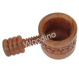 Woodino Handicrafts Export Quality Easy Hand Nut Cracker