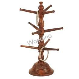 Woodino Premium Carving Bangle Stand Sheesham Wood