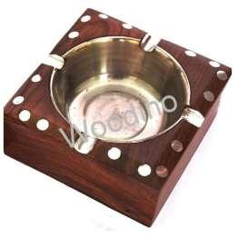 Woodino Square Most Simple Sheesham Wood Ashtray