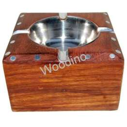 Woodino Square Simple and Sober Brownish Ashtray