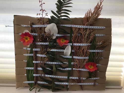 A nature weaving project