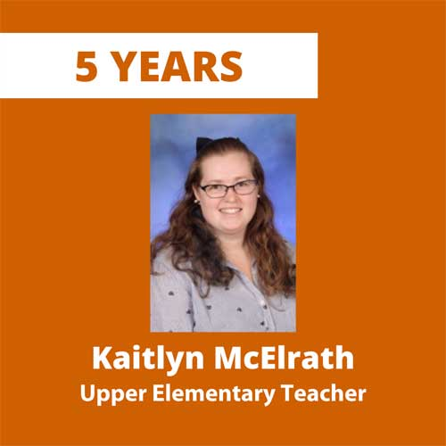 5 years, Kaitlyn McElrath