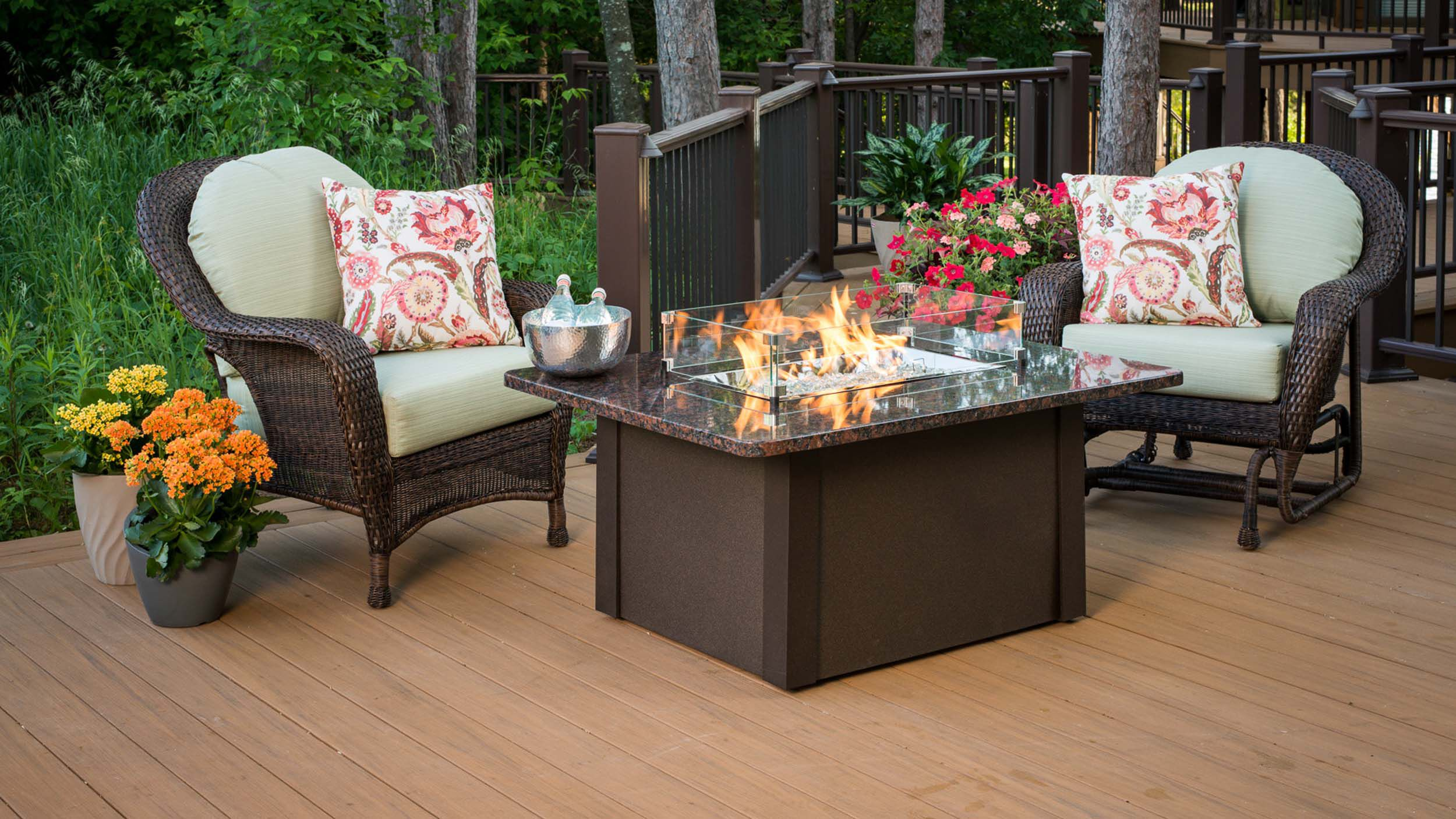 can i put a fire pit on my wood deck