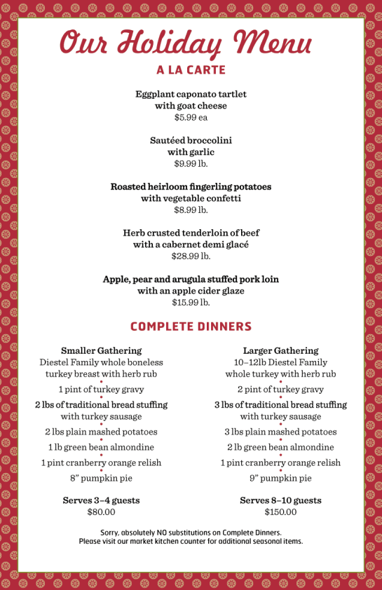 Holiday Menu 2013 Page 2