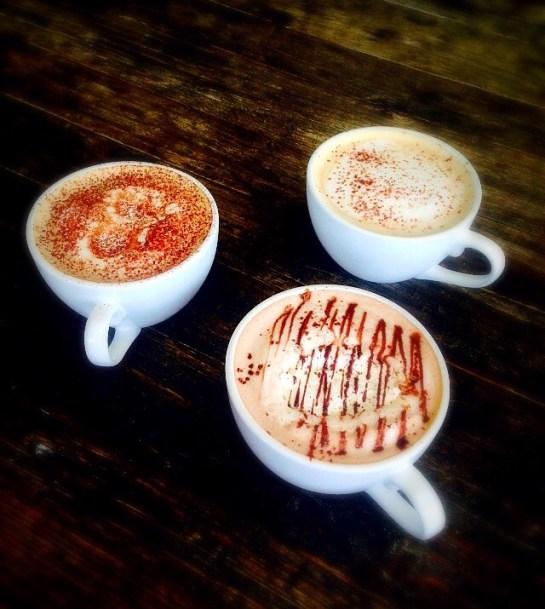 House made syrup coffee drinks