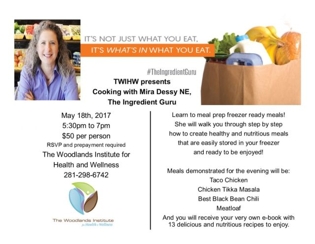 TWIHW present cooking with Mira Dessey