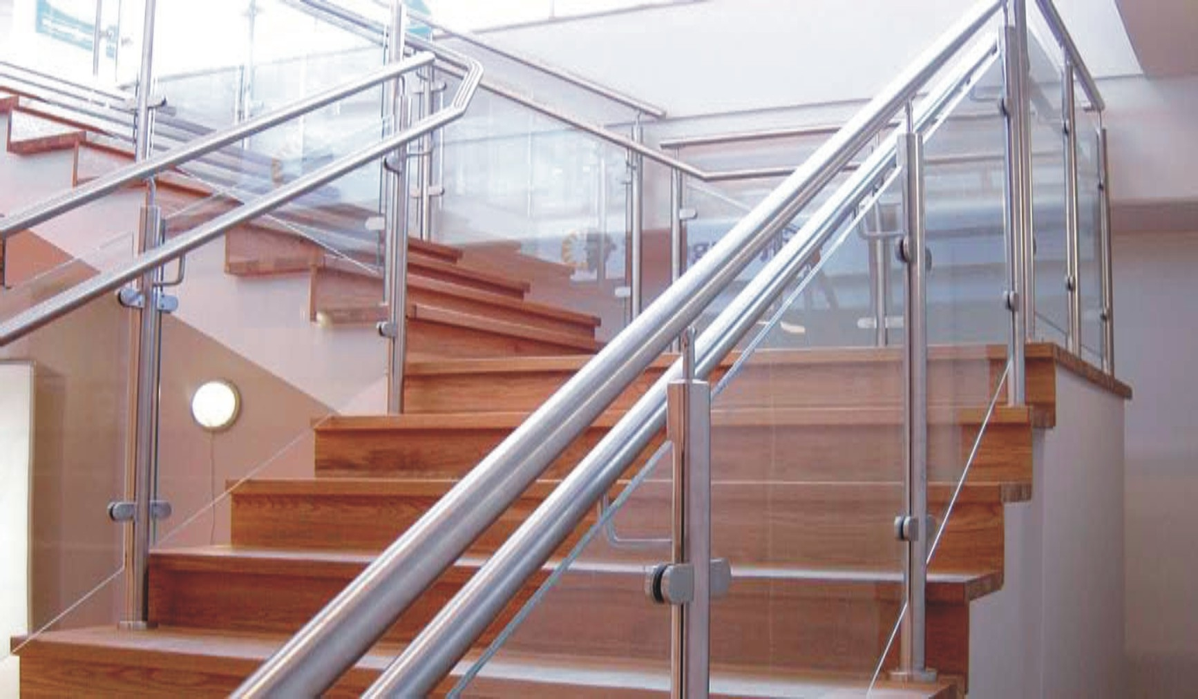 Handrail Fabrication – Woodmans Groups   Aluminium Handrails For Stairs   Outdoor   Plastic   Movable   Aluminum Oval Shaped   Vertical 6Mm Ss Rope Glass