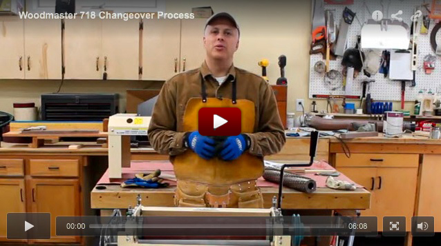 Click the image and watch how quick and easy it is to change the Woodmaster from one function to another - four functions in all - molder, planer, sander, saw.