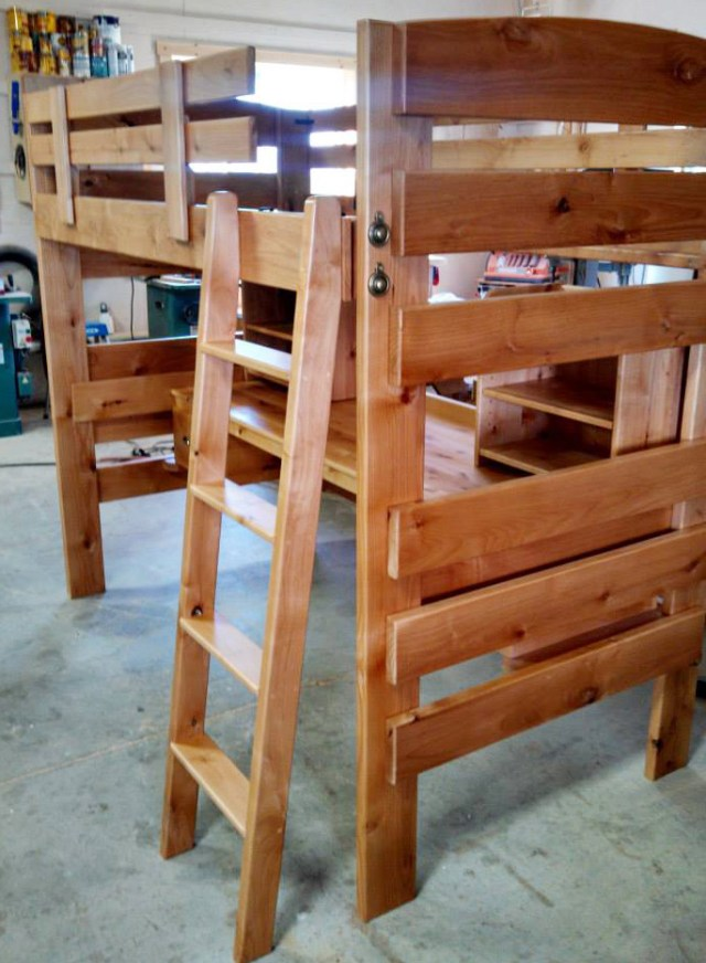 Here's one of Edson's specialties -- a beautiful and very functional bunk bed.