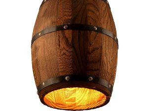 american country pendant light, rustic pendant light, Wood Barrel Decorative Light, Wood Barrel Decorative Light. wooden barrel pendant light, wood barrel light, barrel pendant light, industrial pendant light