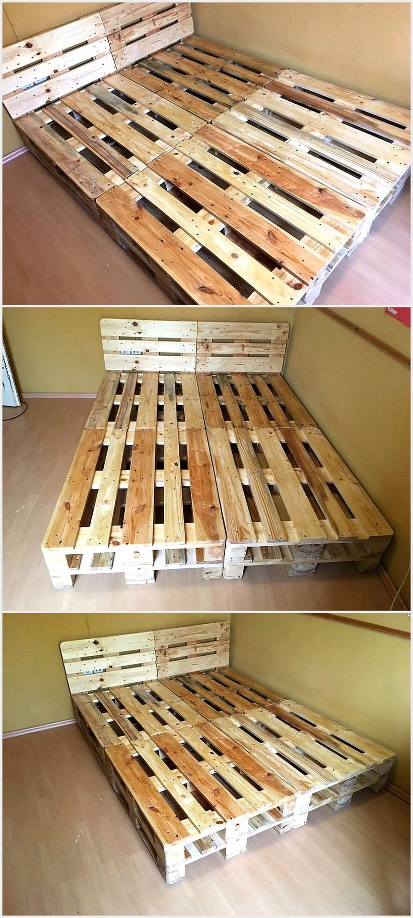 Cheap Home Furnishing With Wooden Pallets | Wood Pallet ... on Pallet Bed Room  id=16943