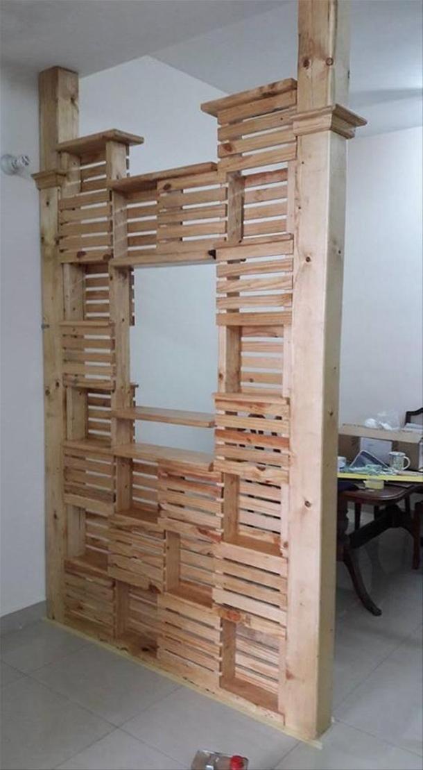 Pallet Room Divider Ideas - Wood Pallet Ideas on Pallet Room Ideas  id=66813