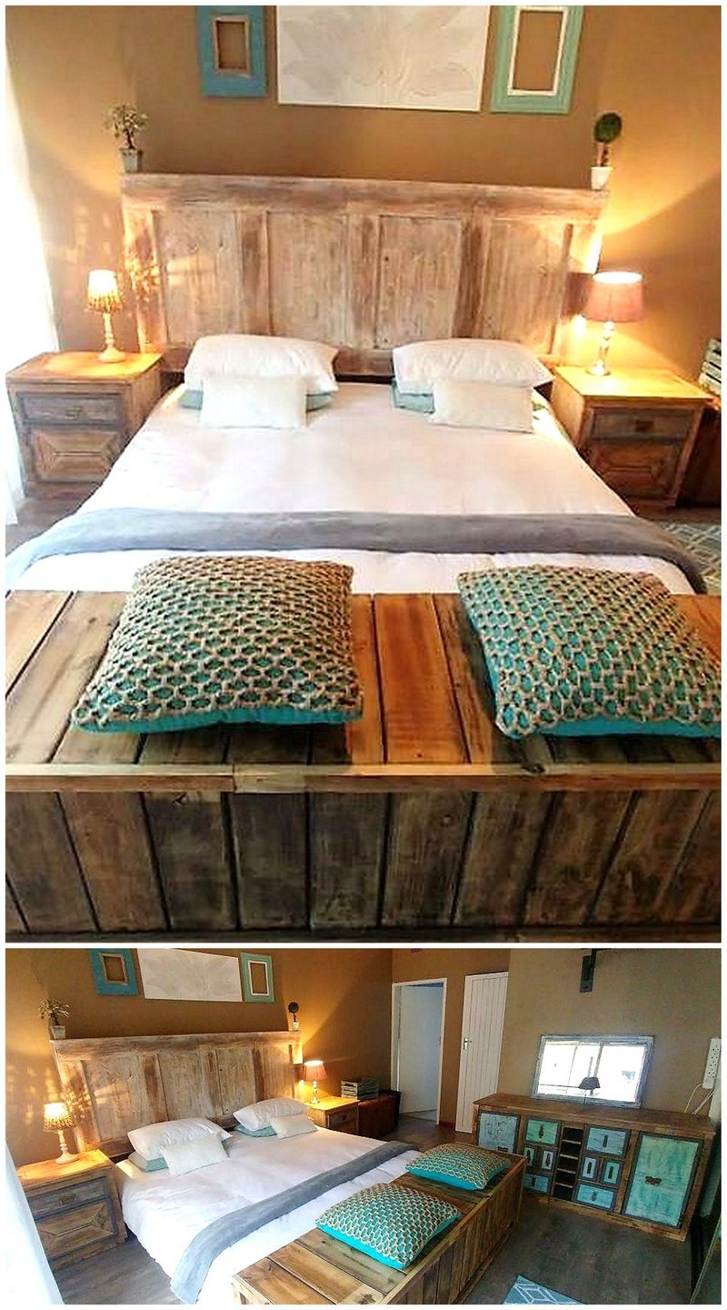 50 Unique DIY Projects with Wood Pallets   Wood Pallet ... on Bedroom Pallet Ideas  id=79419