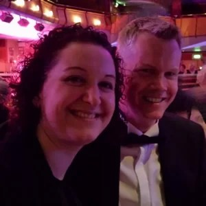 Dan and Magali Woodruff enjoying the evening at the Essex Countywide Business awards 2014.