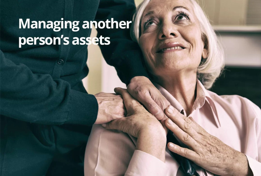 Managing another person's assets financial advice woman thanking family member