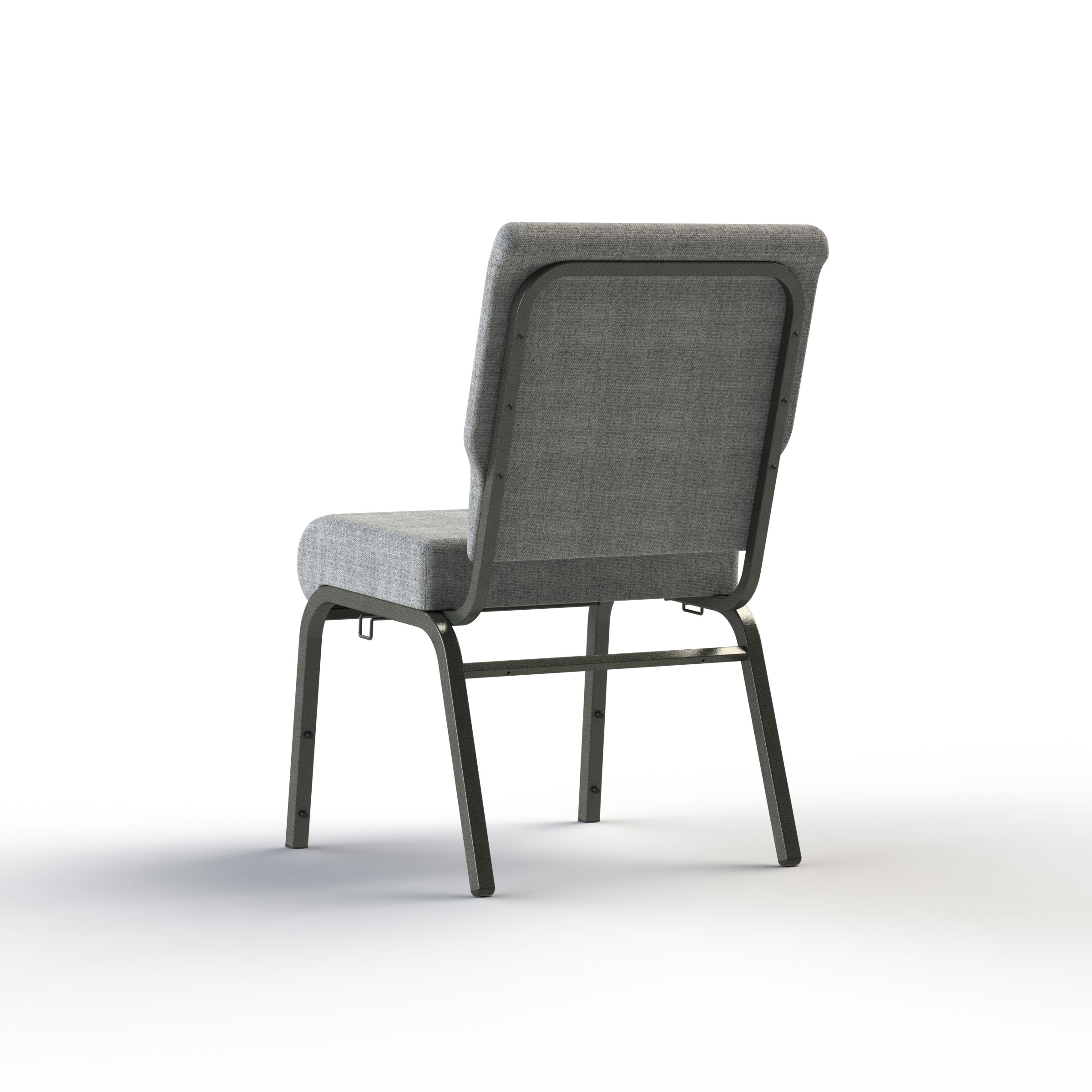 rear view of the foundation church chair from woods church interiors available in quick ship and