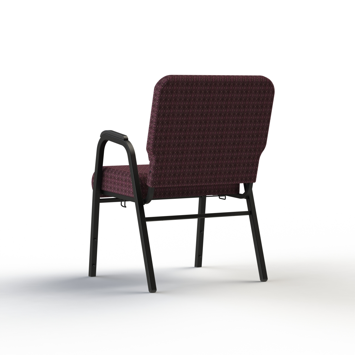 Church chairs with arms -  Cornerstone With Arm Rests Rear View