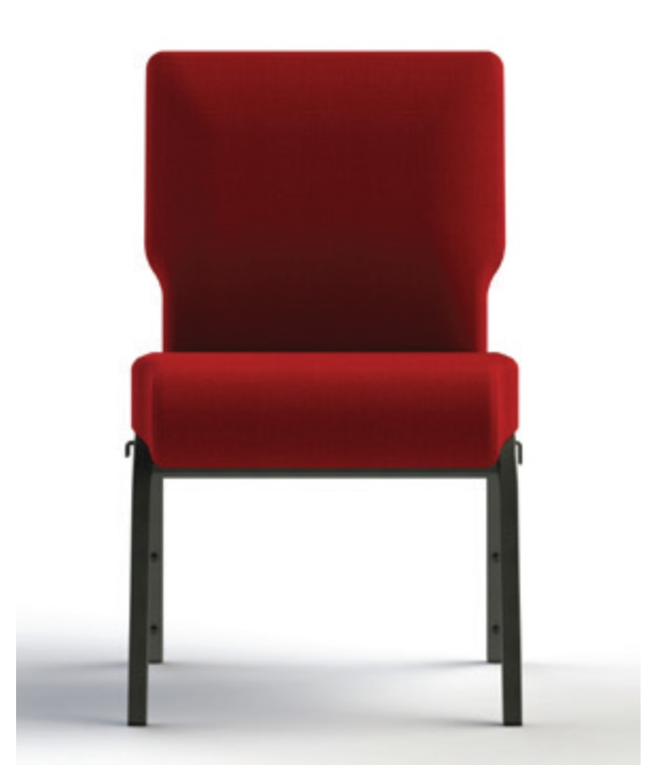 standard back photo 2 of church chair with standard back as alternative to lumbar backs