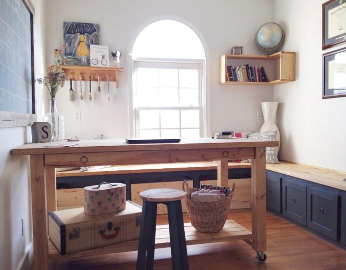 DIY Home Office Remodel and DIY Desk