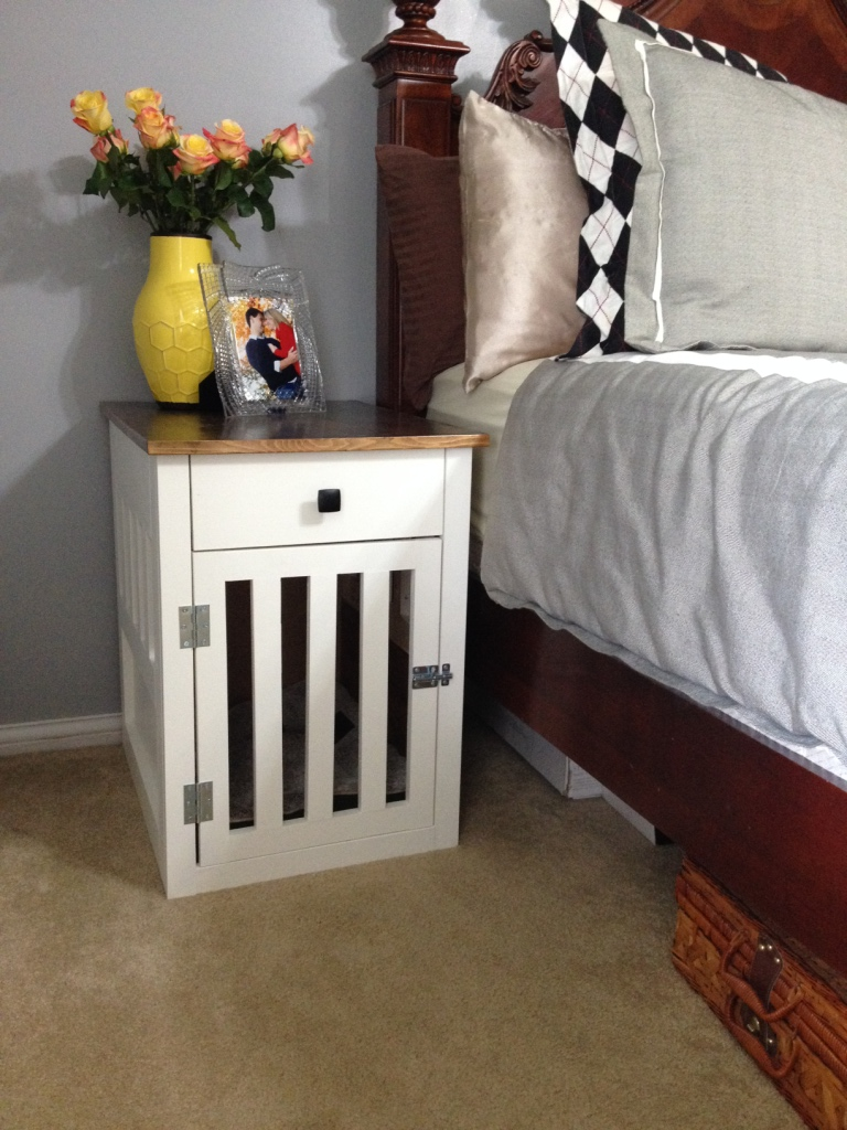 Greatest Going to the Dogs--DIY Dog Crate Nightstands LM21
