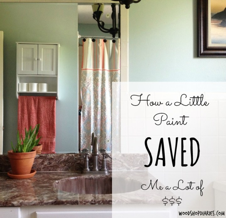 How a Little Paint Saved Me a Lot of Money--Simple Bathroom Update--Woodshop Diaries