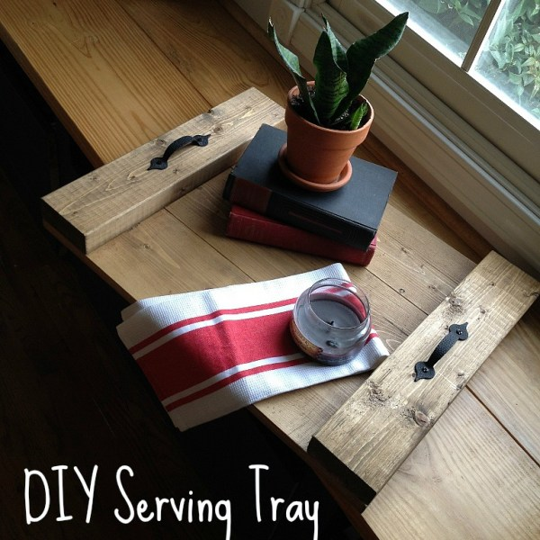 How to make a super easy DIY wood tray