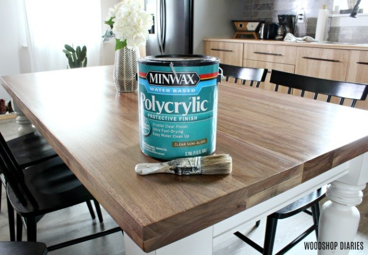 Polycrylic used to seal dining table top